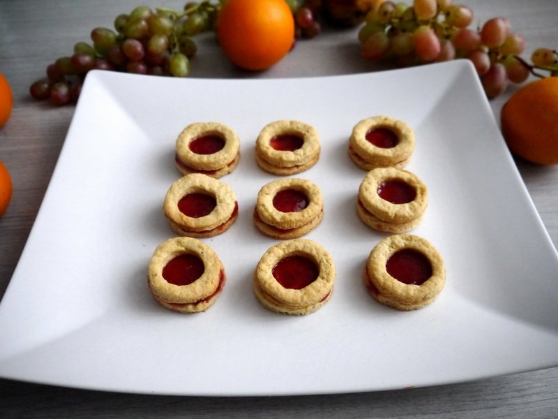 Бисквитки с мармалад