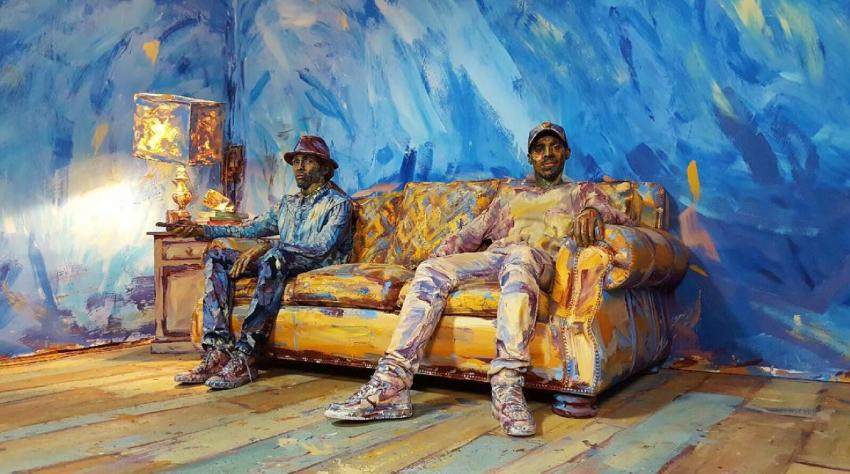 """""""Цветовете на реалността"""" – представени от танцуващите Jon Boogz и Lil Bucк, изрисувани от Alexa Meade / Видео"""