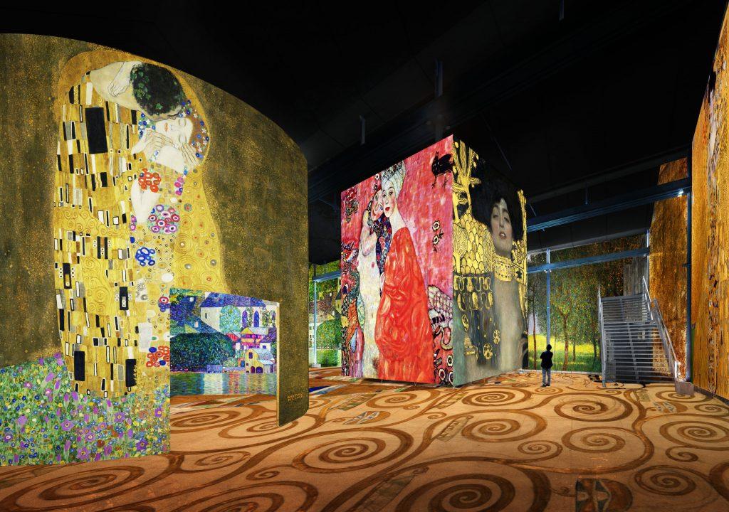 Simulation Klimt – Atelier des Lumières © Culturespaces _ Nuit de Chine
